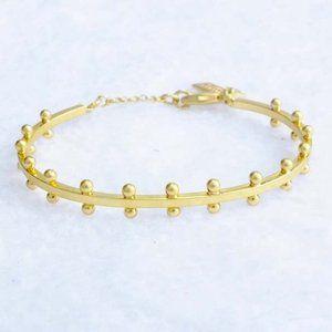 Kate Spade Gold Dot Cuff Chain Bracelet